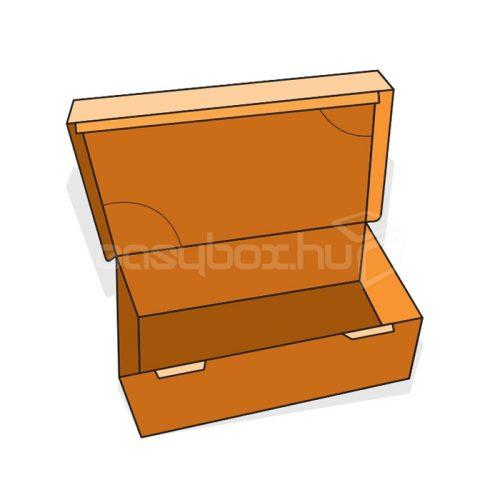 Egyrészes névjegykártya doboz - FEFCO428/1 - easybox.hu