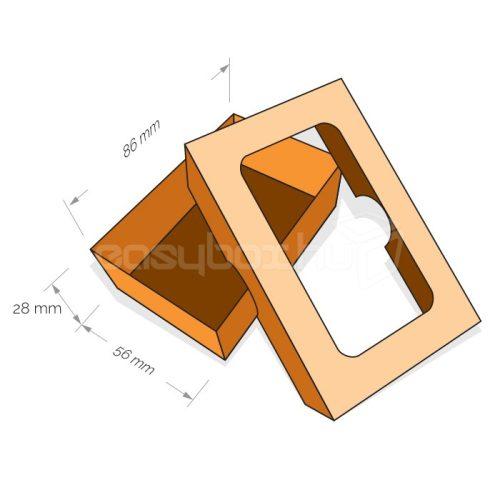 Kétrészes névjegykártya doboz - FEFCO330 - easybox.hu