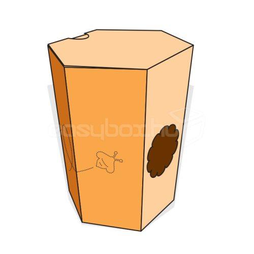Hullámkarton doboz 730 ml-es OMME mézesüveghez - easybox.hu